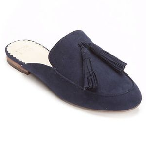 CROWN & IVY | Galle Mule Suede Navy Size 8M NWOT